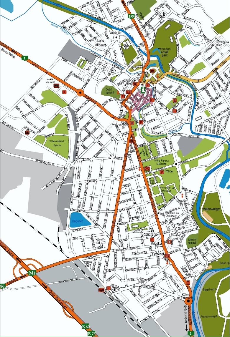 mosonmagyaróvár térkép Szigetköz Portál